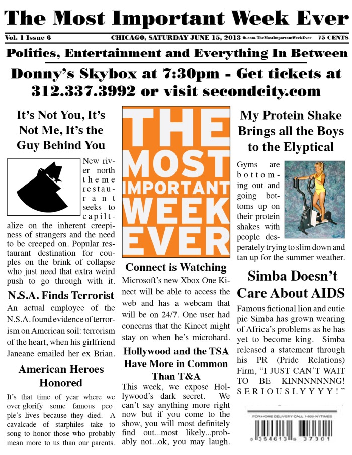 The Most Important's Last Week - This Saturday at 7:30pm in Donny's Skybox.