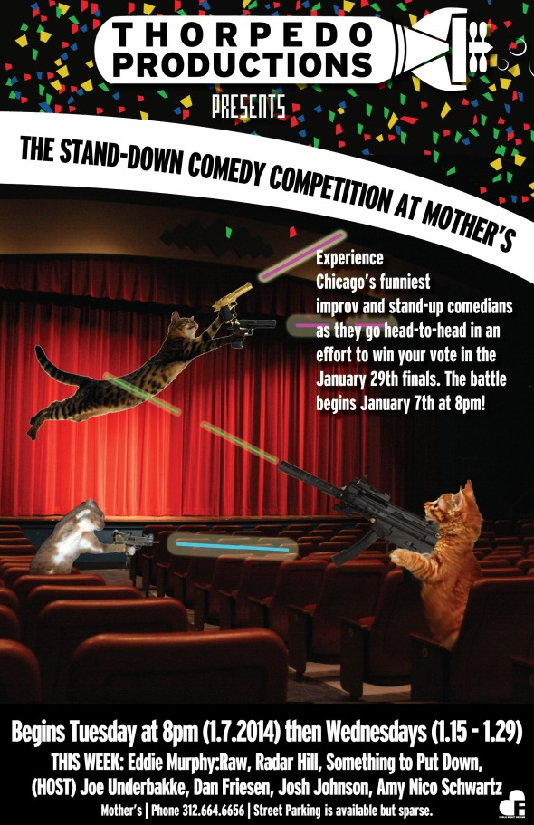 The Stand-down Comedy Competition Show - January 7th at 8pm at Mother Tavern