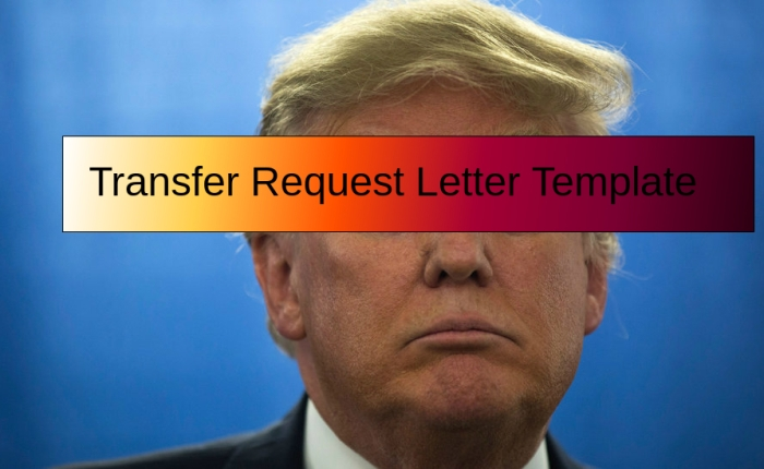 Transfer Request Letter Template