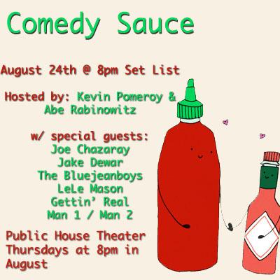 Comedy Sauce FB Sq 8.24.17